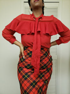Cherry Blouse < Fits Medium to Large >