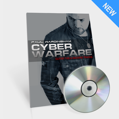 Guitar Tab - Cyber Warfare (with 2 Backing Tracks)