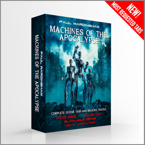 MACHINES OF THE APOCALYPSE - Tab 4 Pack + Backing Tracks