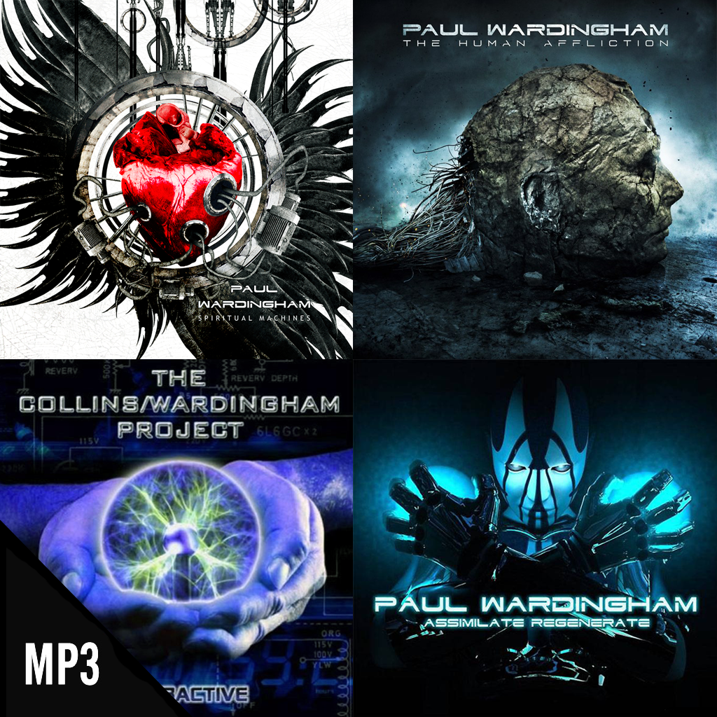 4 Albums (MP3 only): Spiritual Machines + The Human Affliction + Assimilate Regenerate + Interactive