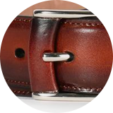 Leather frame detail