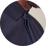 Concealed button placket