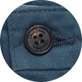 Branded horn buttons