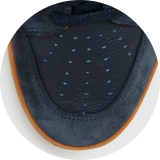 Perforated leather detail