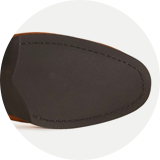 Rubber forepart sole