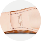 Natural leather sole