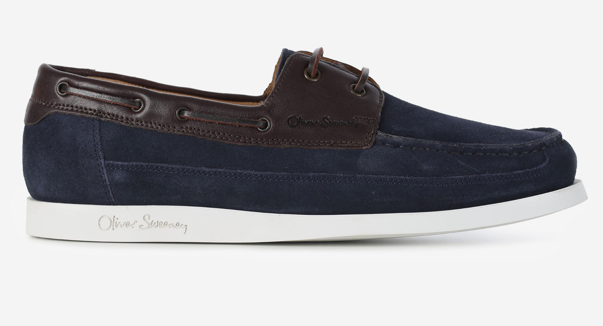 Suede/Calf Leather Boat Shoe