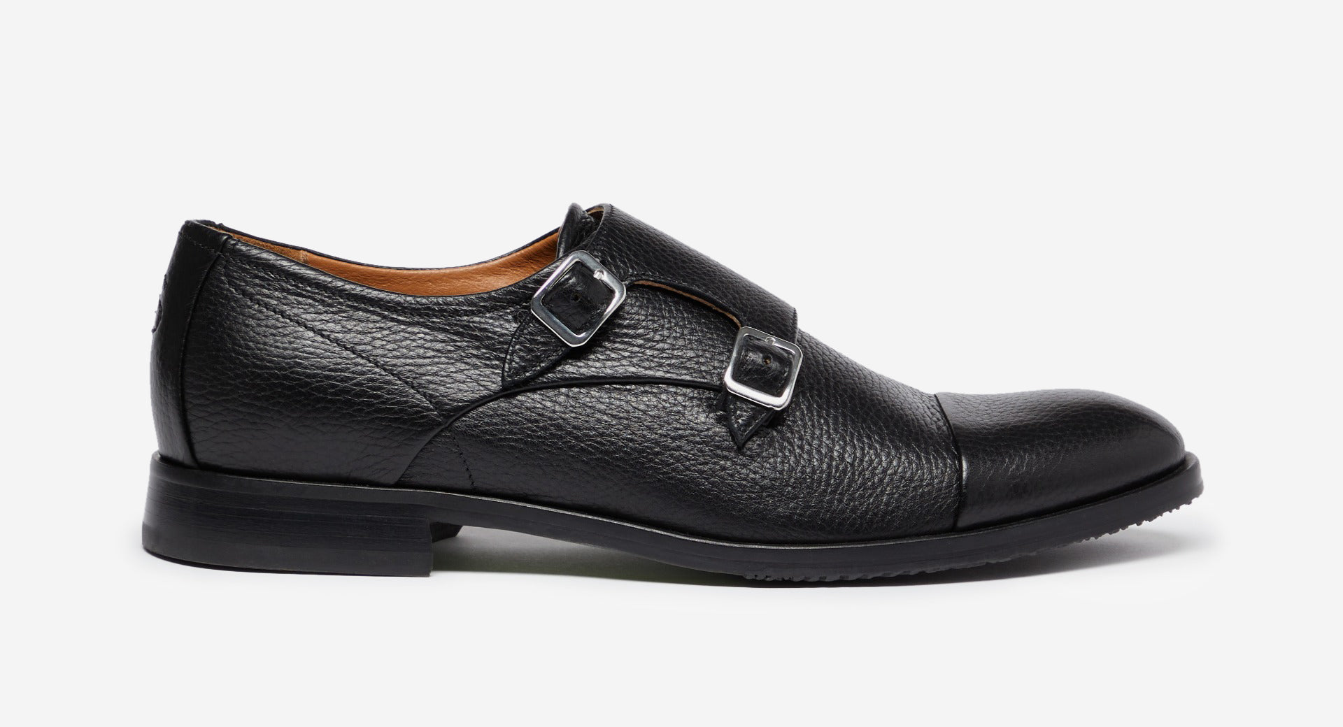 Deer Leather Double Monk Shoes