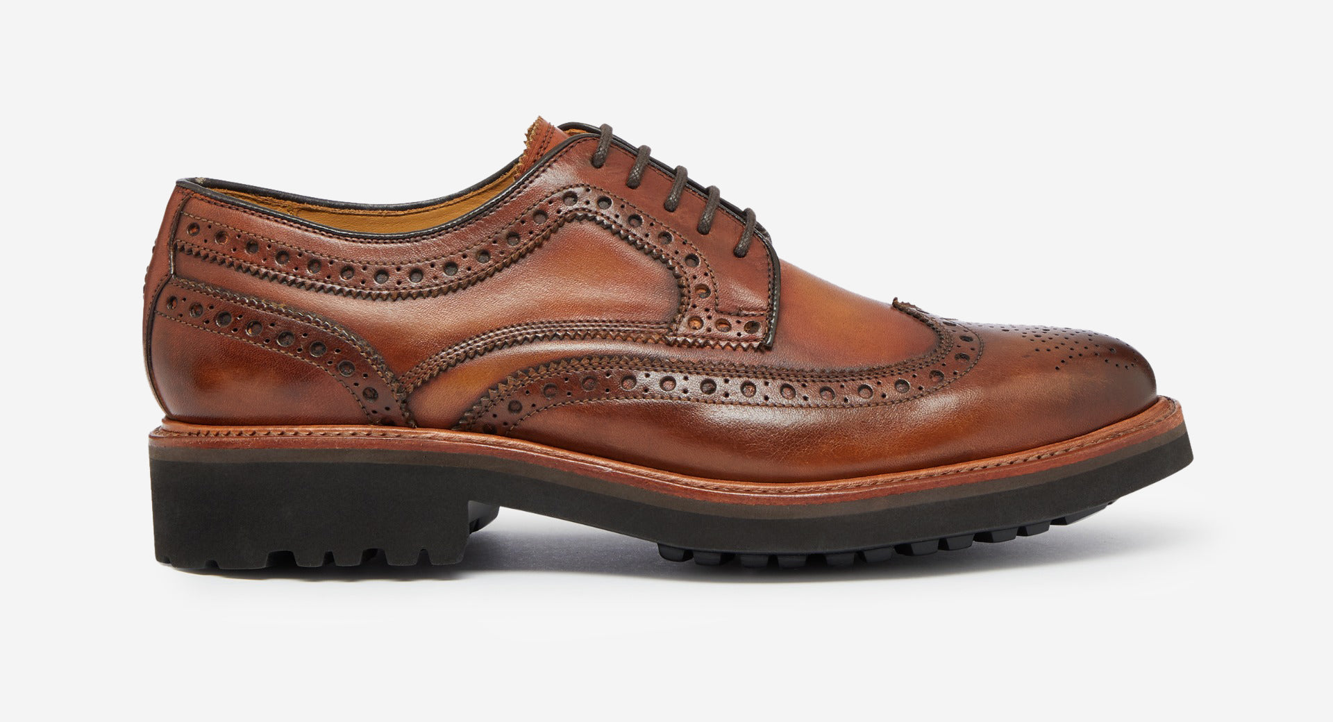 Hand Finished Leather Derby Brogue