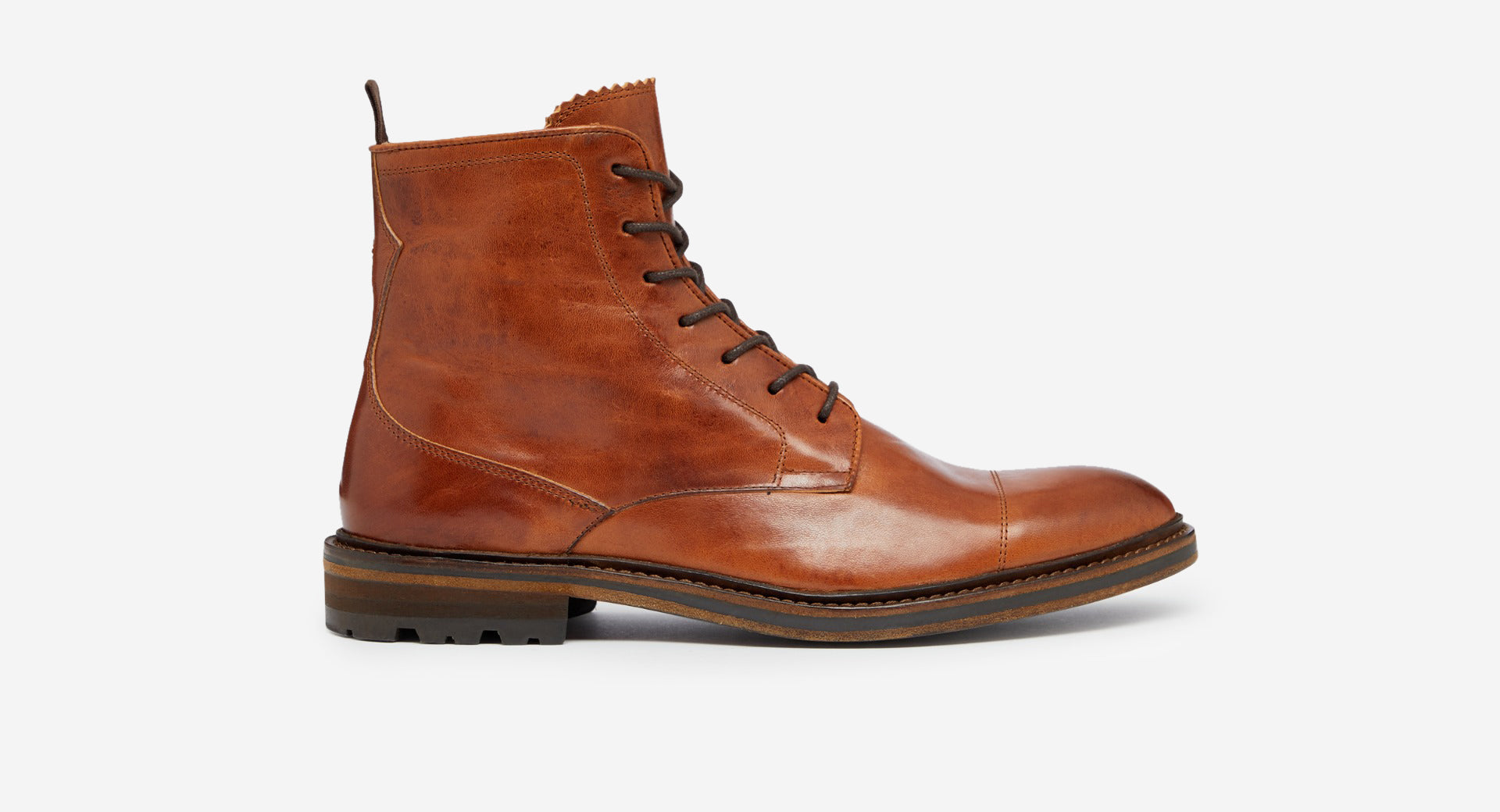 Calf Leather Derby Boot