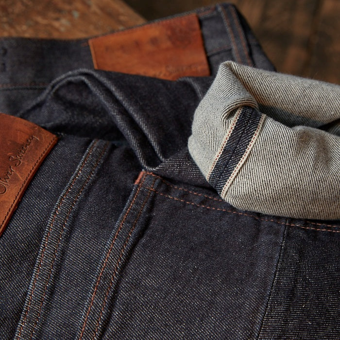 <br> <h2>1. Take care</h2> <h3>New indigo denim can transfer dye onto light coloured furniture and will bleed some colour into a wash. So wash separately or with similar colours.</h3> <br> <h2>2. Hold back</h2> <h3>Ideally don't wash your jeans too often - spot remove marks with a damp cloth and mold detergent.</h3> <br> <h2>3. Turn them inside out</h2> <h3>When, inevitably you do wash them, turn them inside out to avoid streaking and use the coolest wash possible.</h3> <br> <h2>4. Dry naturally inside out</h2> <h3>Allow them to dry naturally (inside out) either on the line or on a rack. Avoid the tumble dryer, the hear will cause shrinkage.</h3>