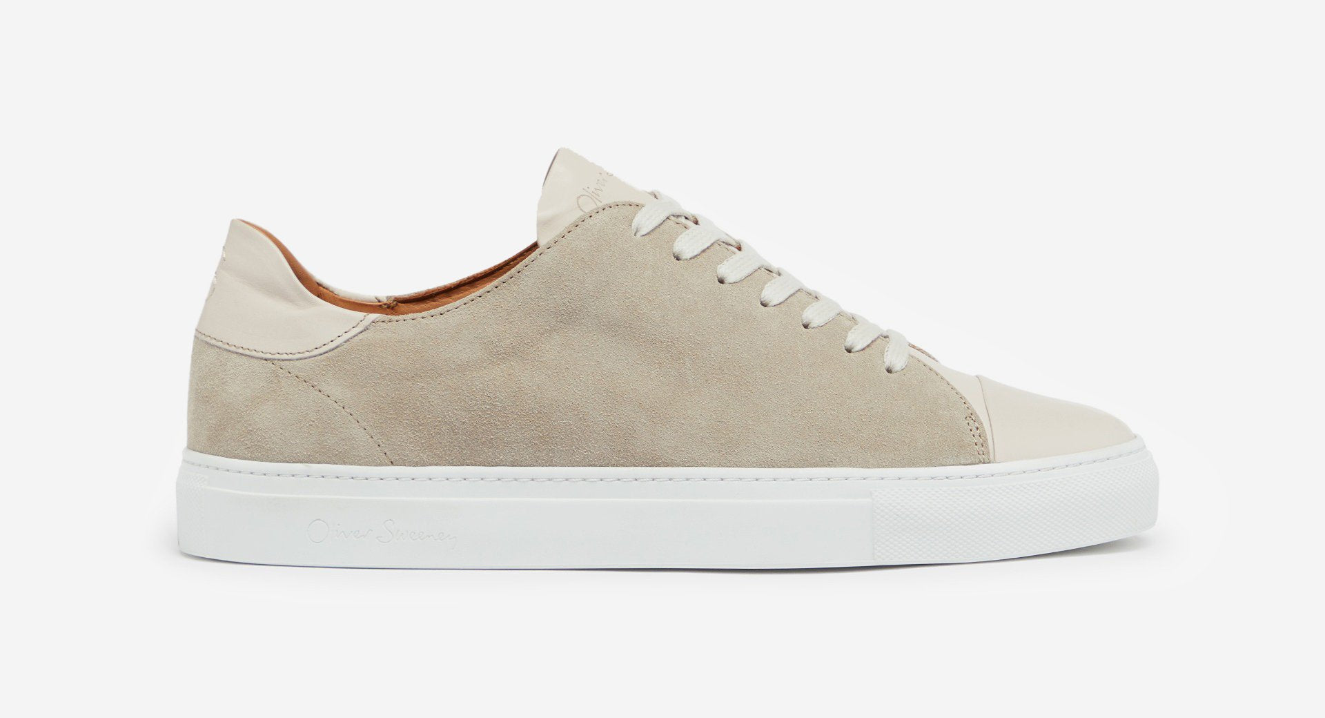 Calf Leather/Suede Cupsole Trainers