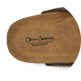 Suede footbed lining