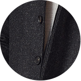 Horn buttons & concealed placket