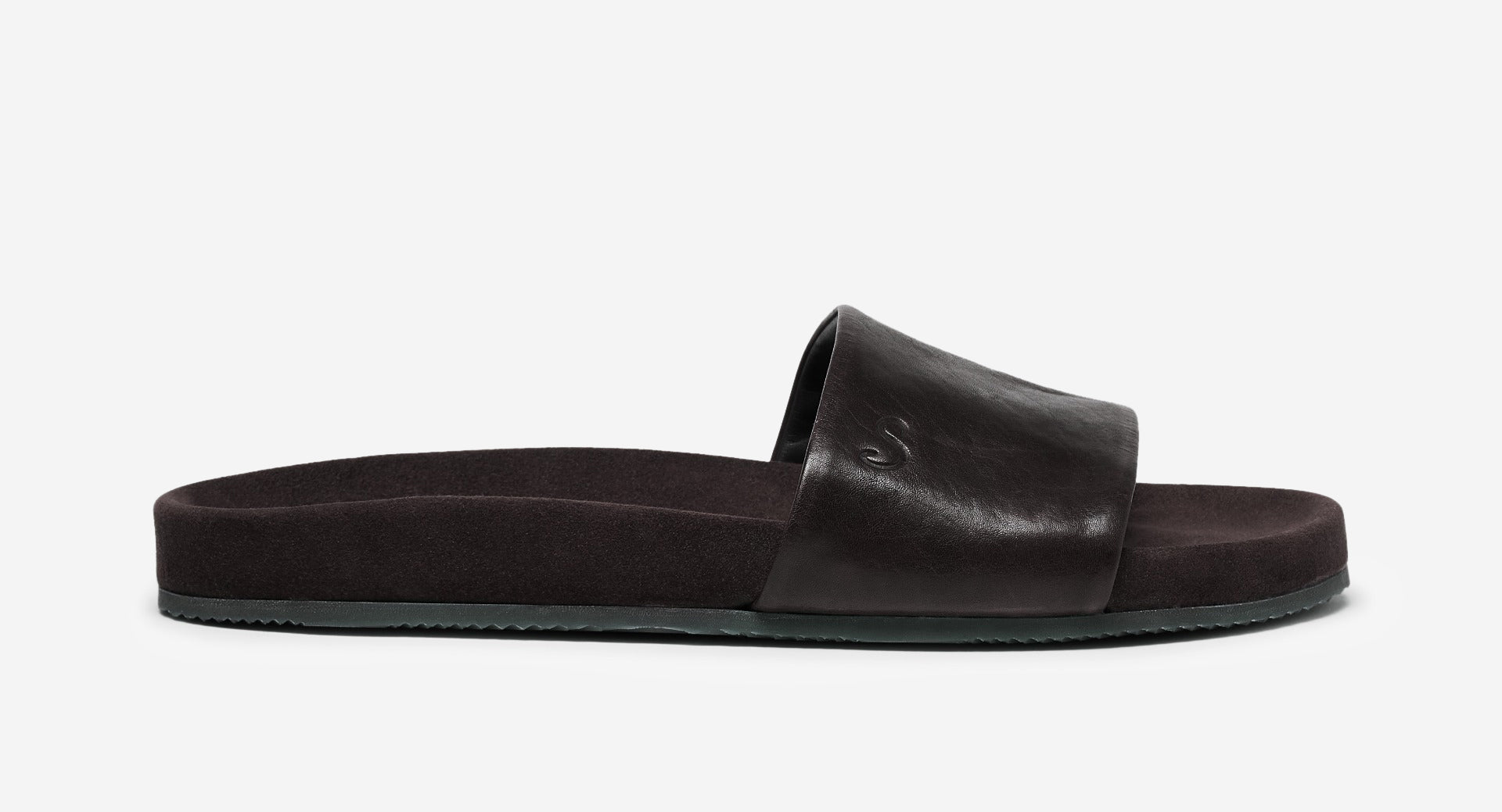 Dip Dyed Leather Pool Slide