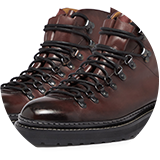 Hand antiqued leather upper