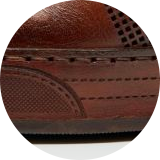 Leather wrapped cupsole