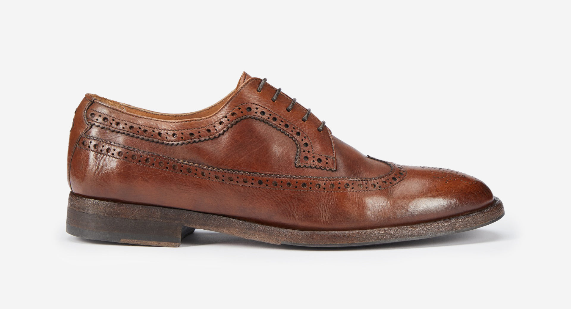 Tumbled Leather Derby Brogue