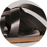 Calf leather footbed