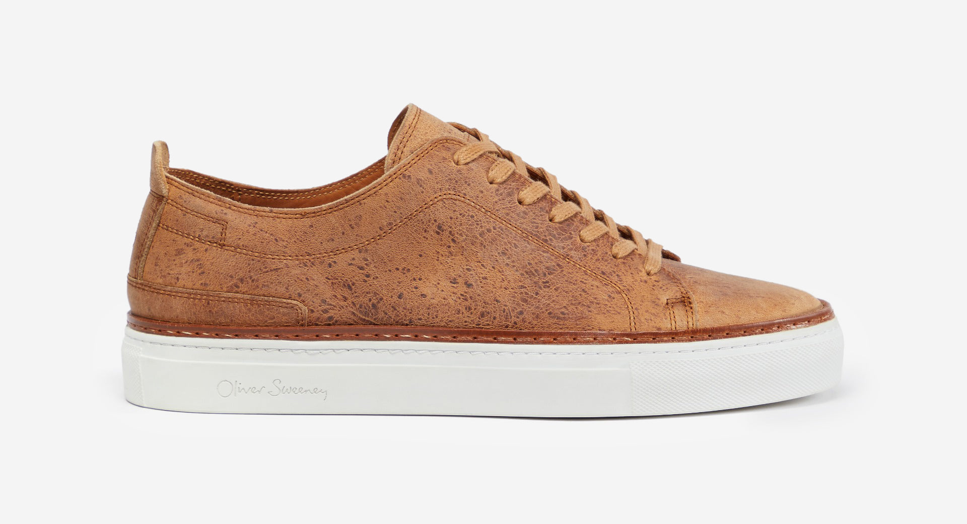 Waxed Calf Leather Trainers
