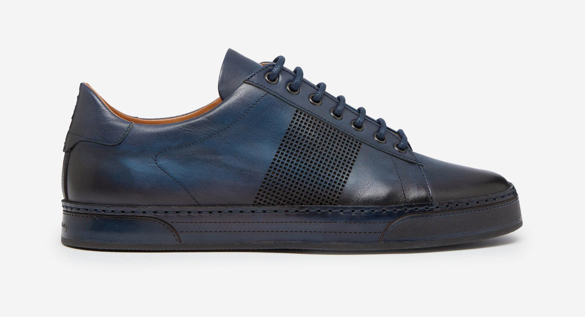 Hand Antiqued Leather Trainer