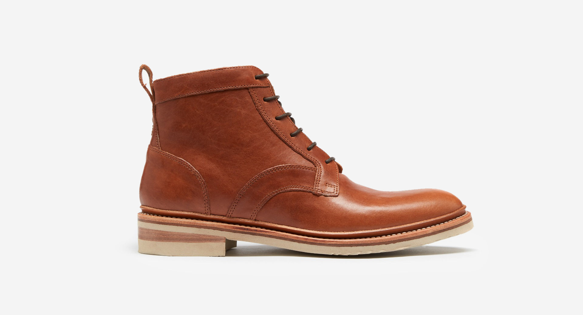 Calf Leather Derby Boots