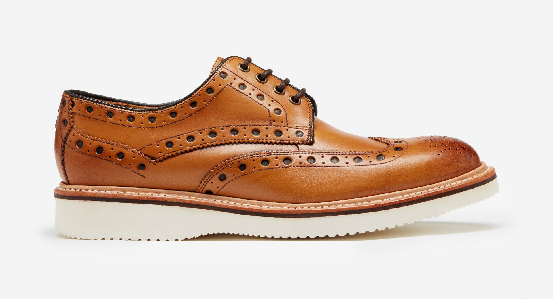 Calf Leather Derby Brogue