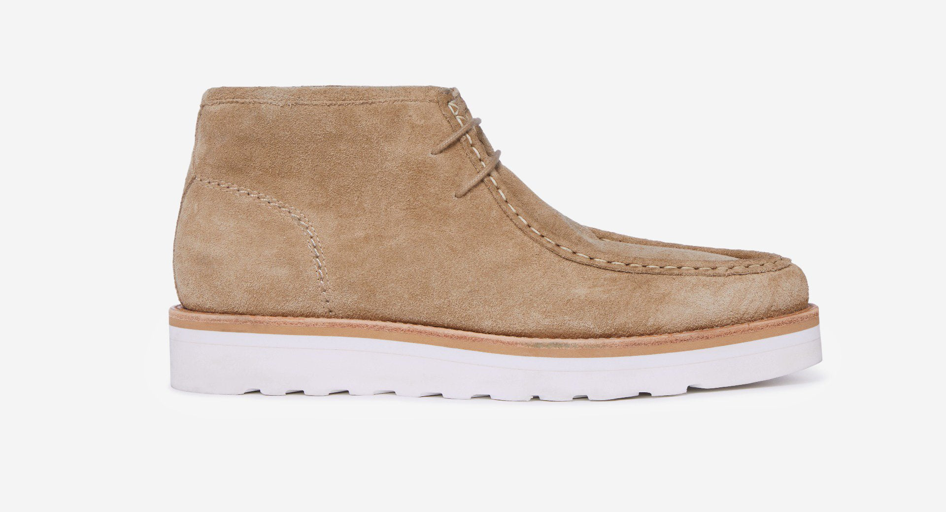 Calf Suede Moccasin Boots