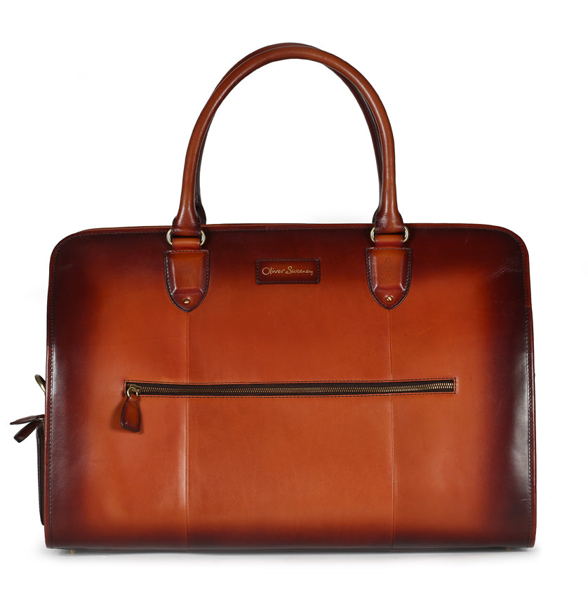 Hand Finished Leather Holdall