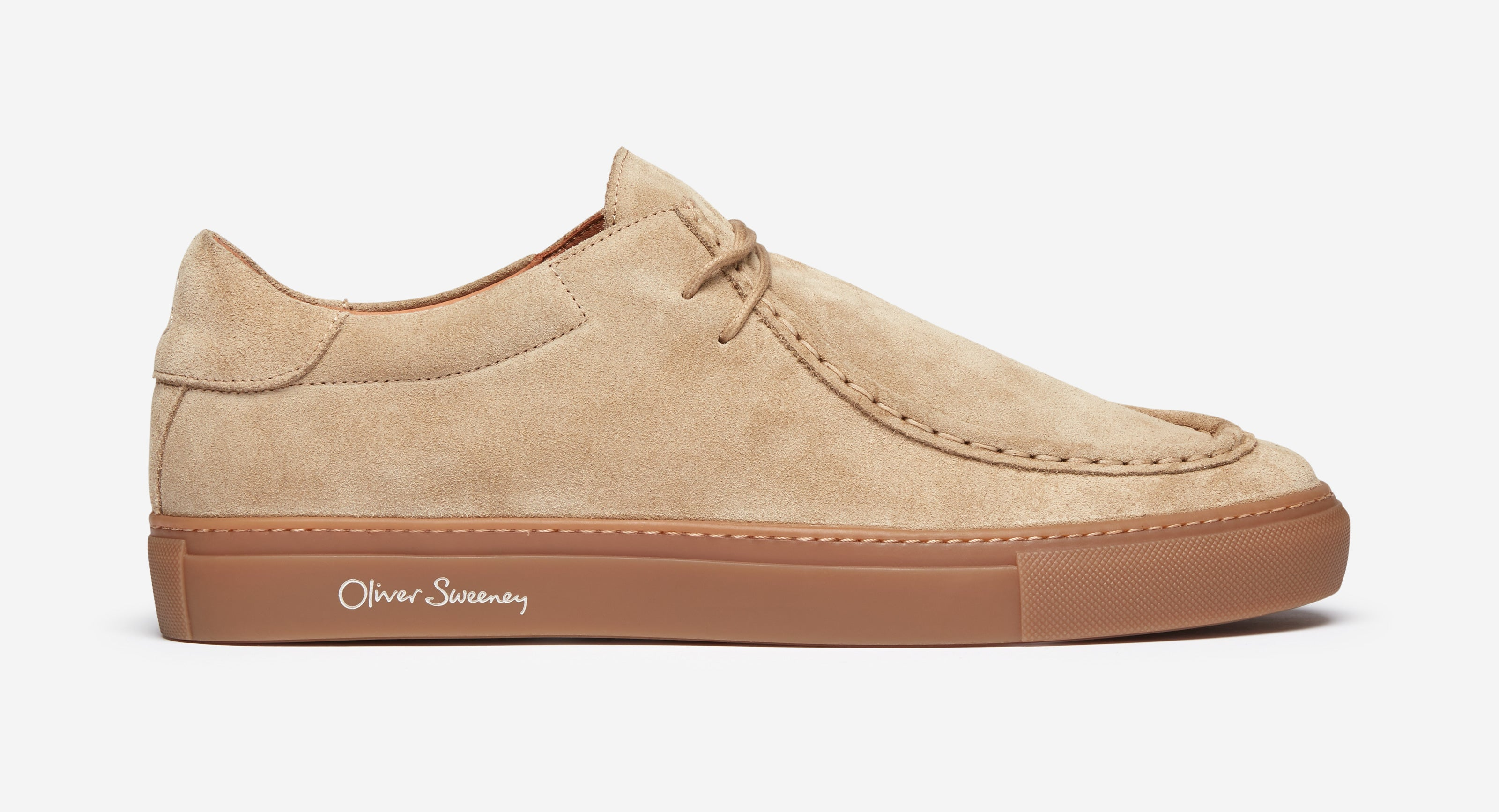 Calf Suede Moccassin Trainers