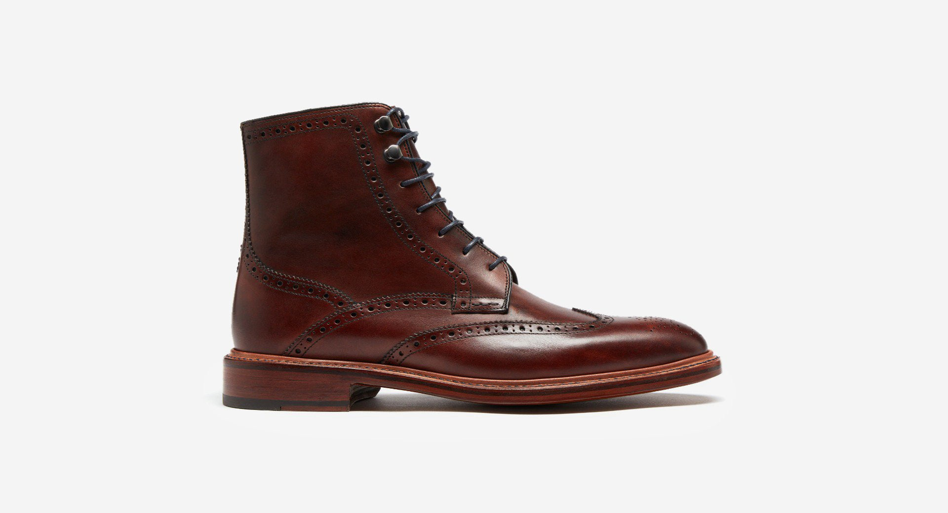 Hand Finished Leather Brogue Boots