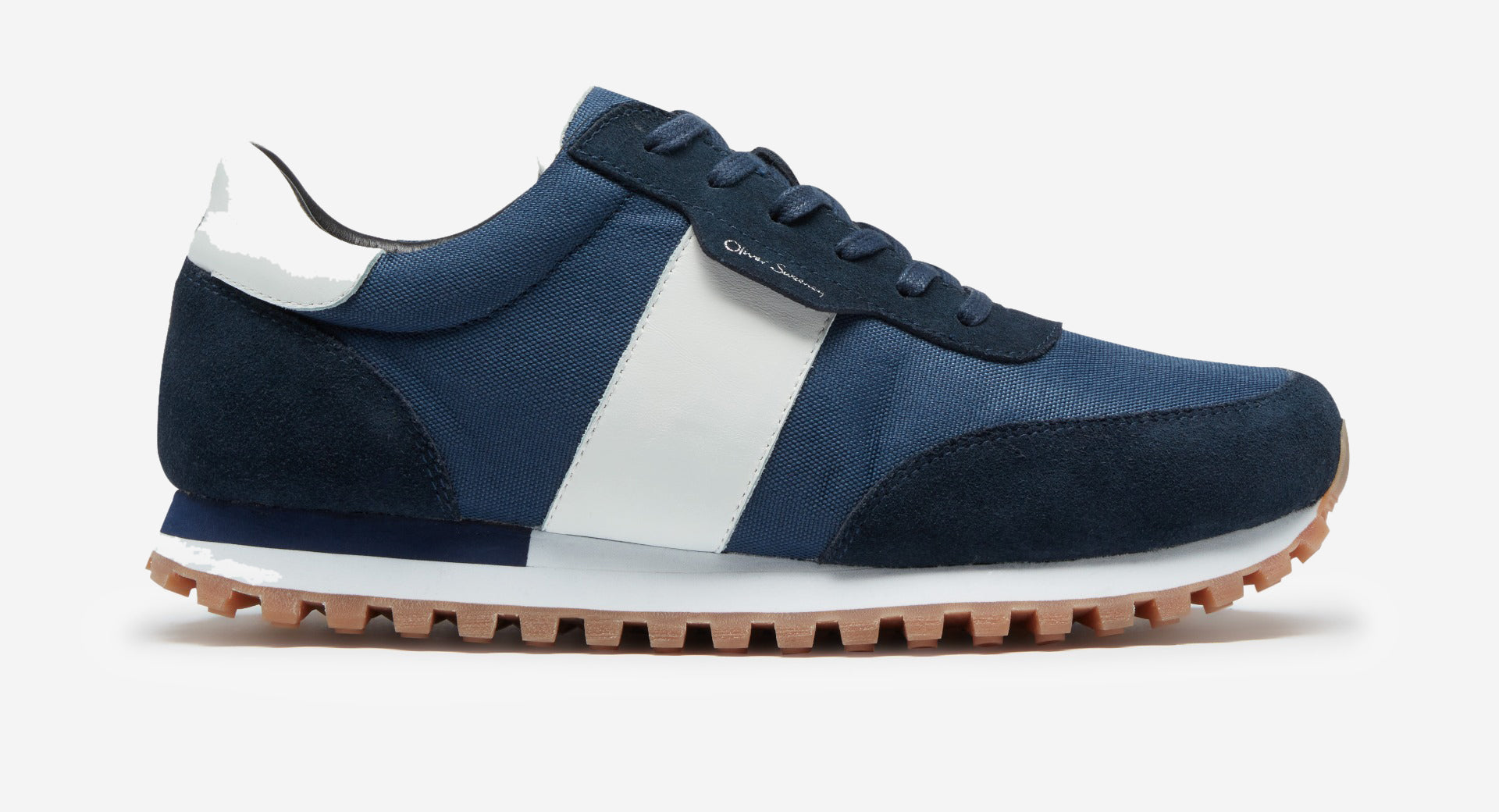 Suede/Mesh Trainers