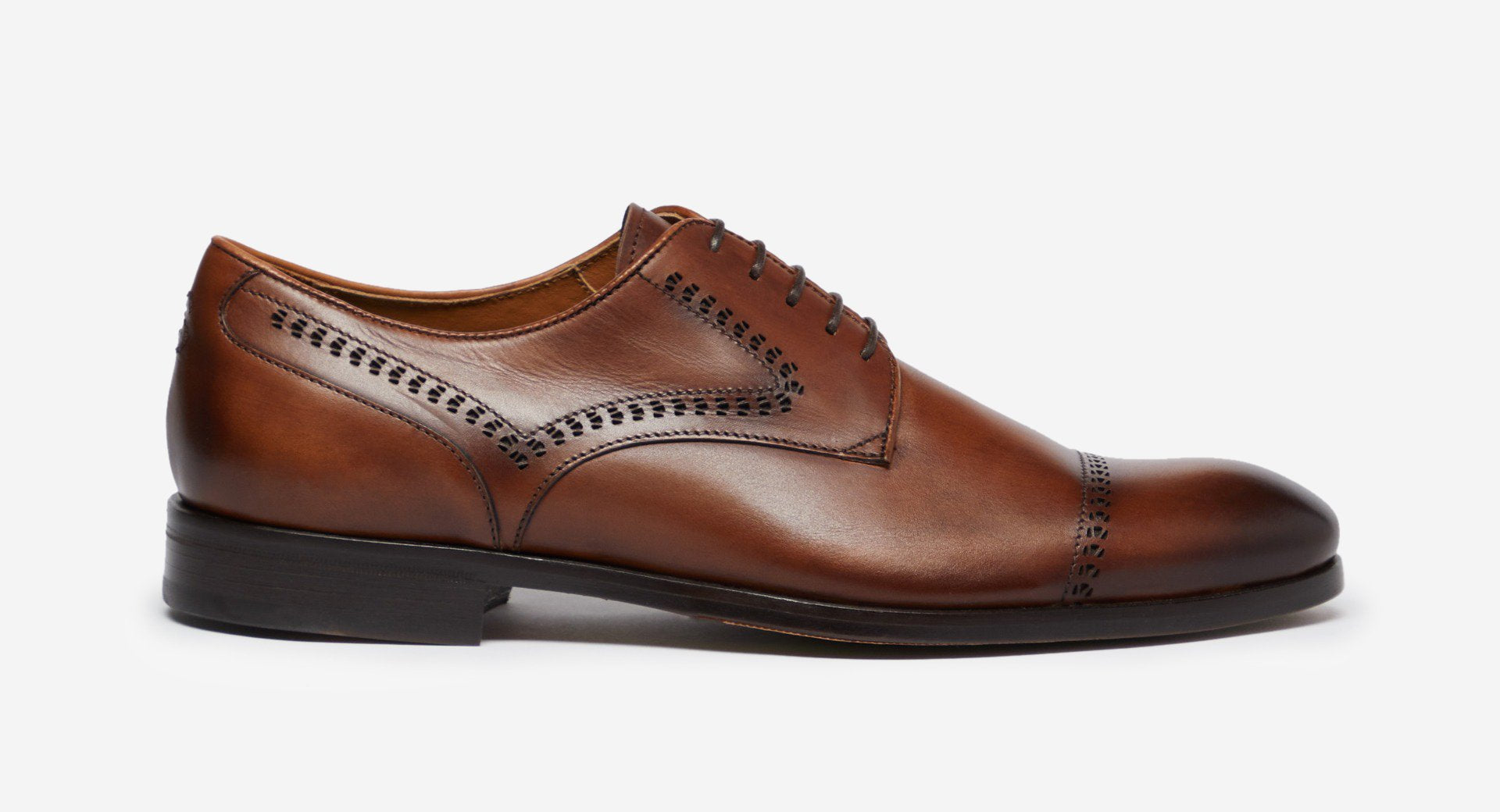 Antiqued Leather Derby Shoes
