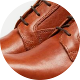 Waxed calf leather upper