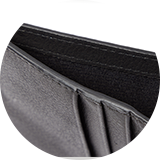 Twill lined note slot