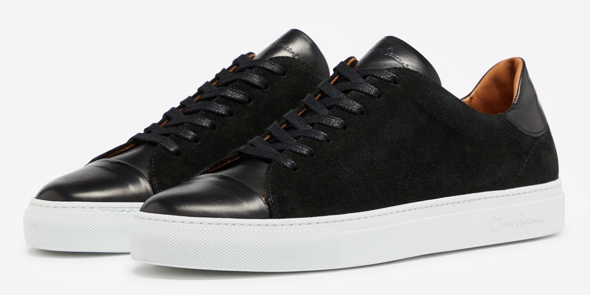 Calf Leather & Suede Cupsole Trainers