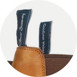 Branded heel and hin pull tabs