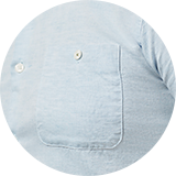 Buttoned chest pocket