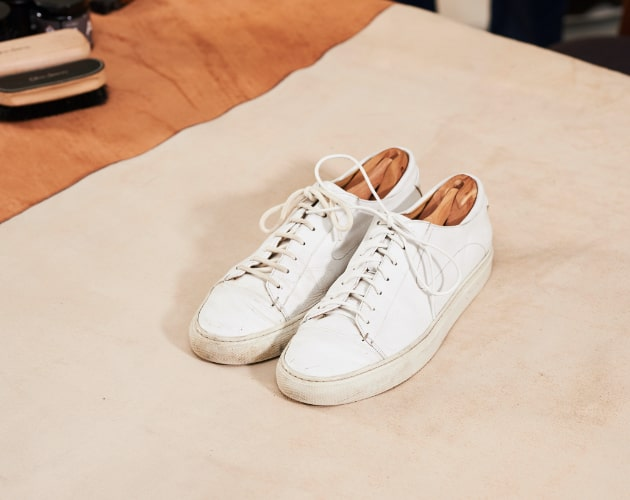 How to clean your white trainers