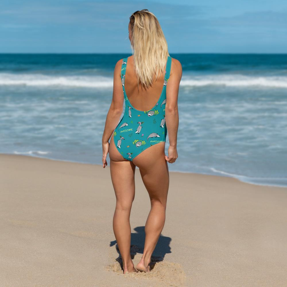 Awesome Possum Teal One-Piece Swimsuit - AwesomePossumz
