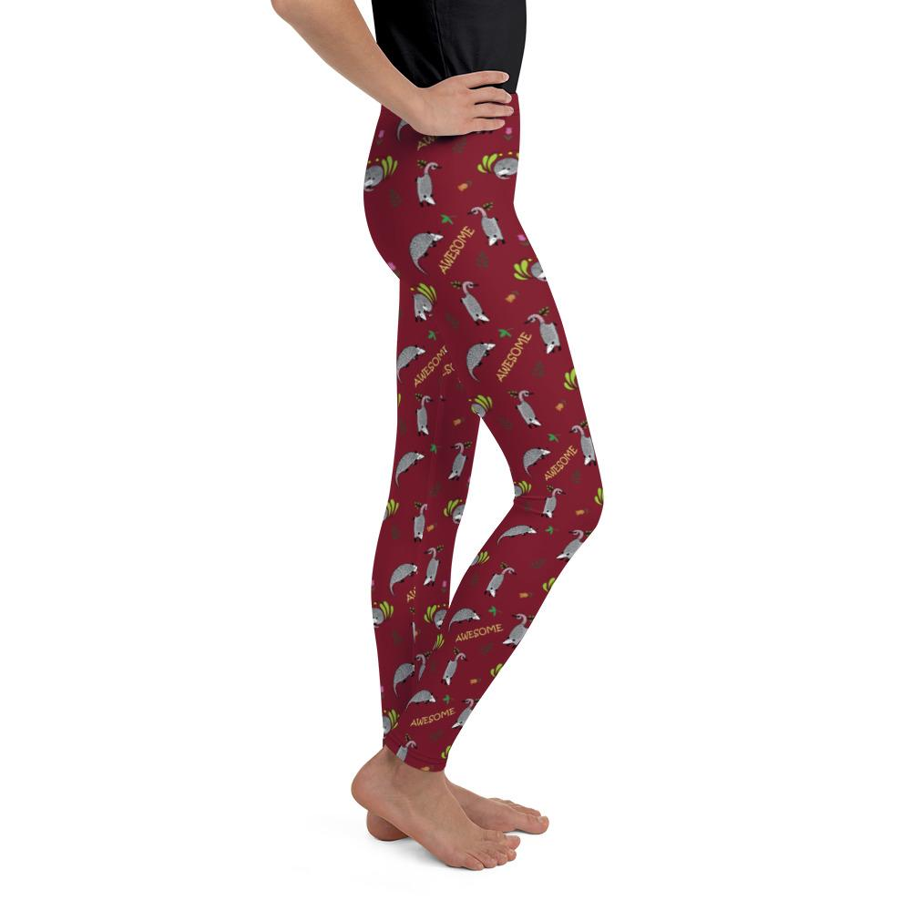 Awesome Possums Red Youth Leggings - AwesomePossumz