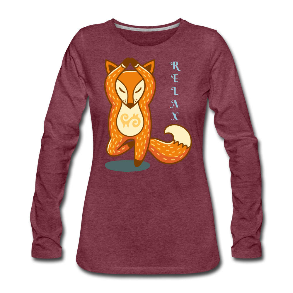RELAX Long-Sleeved Tee Shirt - heather burgundy