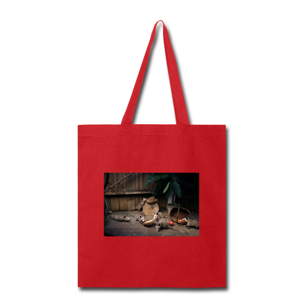 Troublemakers Tote Bag - red
