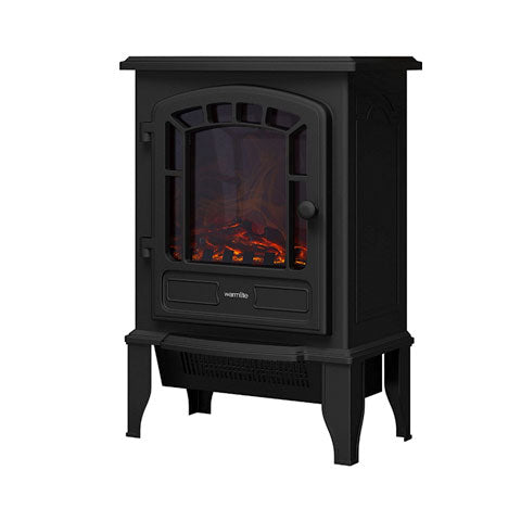 Warmlite LED Fire Stove, 2000 W, Black