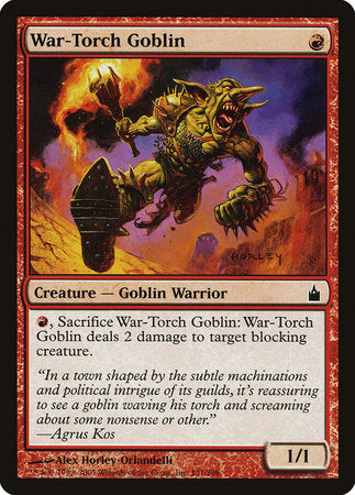 War-Torch Goblin [Ravnica: City of Guilds] | Silver Goblin