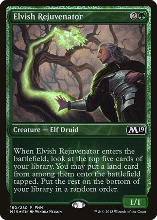 Elvish Rejuvenator [Core Set 2019 Promos] | Silver Goblin