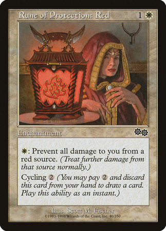 Rune of Protection: Red [Urza's Saga] | Silver Goblin