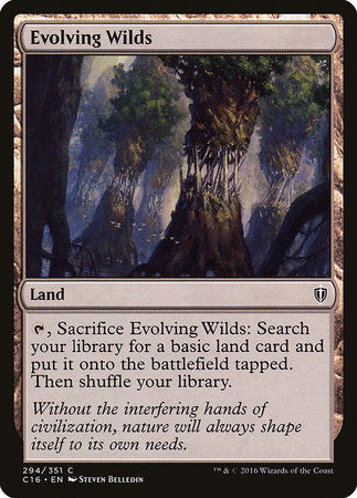 Evolving Wilds [Commander 2016] | Silver Goblin