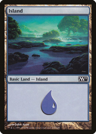 Island (235) [Magic 2011] | Silver Goblin