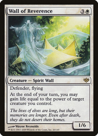 Wall of Reverence [Conflux] | Silver Goblin